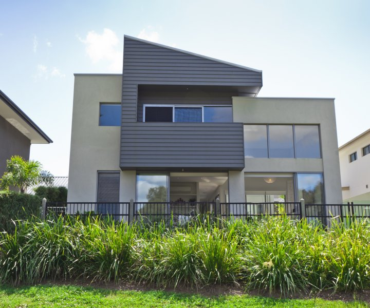Modern two storey Australian house front